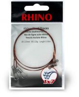 0,33mm Rhino Steel Trace 1x7 0,5m 12kg 2 pieces