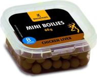 Mini Boilie, pre-drilled brown Chicken Liver 8mm 60g
