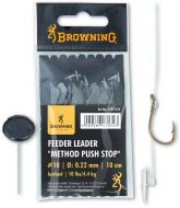 #10 Feeder Leader Method Push Stop bronze 10lbs 0,22mm 10cm 6pcs