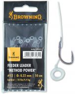 #10 Feeder Leader Method Power Pellet Band bronze 12lbs 0,25mm 10cm 6pcs