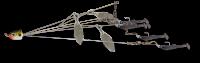Umbrella Rig 5 Arm White Silver Flake 3 Blade