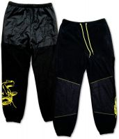 L Fleece Pants black/yellow