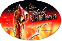Sticker Bloody Chicken 14,5cm 9,5cm