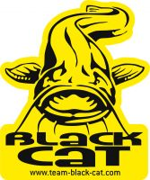 Black Cat Catfish Sticker 9,0cm 7,5cm