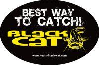 Black Cat Sticker 12cm 8cm