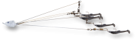 Umbrella Rig 5 Arm Tenn Shad 3 Blade