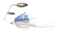 Atlas Spinnerbait 1/2oz Clear / Blue Glimmer - Holo Nickel