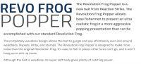 REACTION STRIKE REVOLUTION FROG POPPER 55mm
